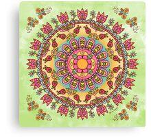 Happy Garden Mandala Canvas Print