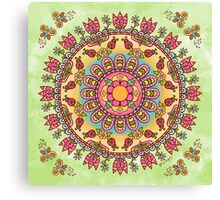 Happy Garden Mandala Canvas Print