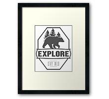 Explore Bear | Stay Wild Framed Print