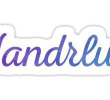 Wandrlust Start Exploring Sticker