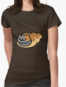 Neko Atsume Spooky Womens Fitted T-Shirt