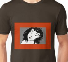 Ink Drawing of sleeping Girl with red frame. Graphic Unisex T-Shirt