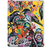 birds in yellow iPad Case/Skin