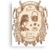 The Refined Lady's Beverage Canvas Print