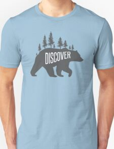Discover Bear with Trees Unisex T-Shirt