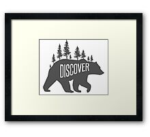 Discover Bear with Trees Framed Print
