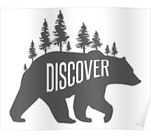 Discover Bear with Trees Poster
