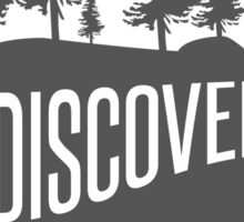 Discover Bear with Trees Sticker