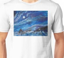 A Ship on the Sea at Night Unisex T-Shirt
