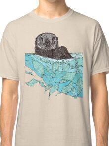Sea Otter Sketch Color Classic T-Shirt