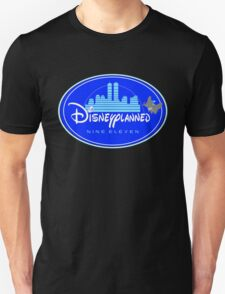 """DI$NEYPLANNED"" Blue Logo v.2  (dark color tees)  T-Shirt"