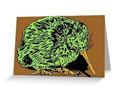 Green Kiwifruit Kiwi JTownsend Greeting Card