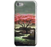 Tardis Blossom Art Painting iPhone Case/Skin