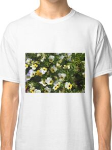 Yellow white flowers in the garden. Classic T-Shirt