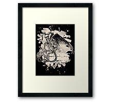 Sitting Demon – bleached white Framed Print