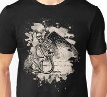 Sitting Demon – bleached white Unisex T-Shirt