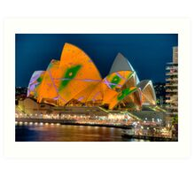 Luminous Opera House, Cahill Expressway Perspective Art Print