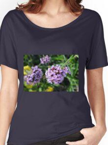 Macro on purple flowers in the garden. Women's Relaxed Fit T-Shirt