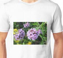 Macro on purple flowers in the garden. Unisex T-Shirt