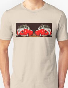 Red combi Volkswagen Twin Unisex T-Shirt