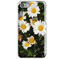 White beautiful flowers in the garden. iPhone Case/Skin