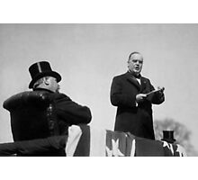 William McKinley Making His Inaugural Address  Photographic Print