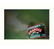 Mexican Seafood Night Art Print