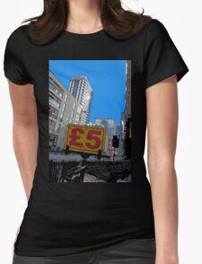 Cheap skyline! Womens Fitted T-Shirt