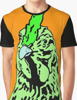 Green and Orange Alberta Chicken. Graphic T-Shirt