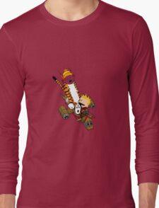 captain calvin and hobbe Long Sleeve T-Shirt