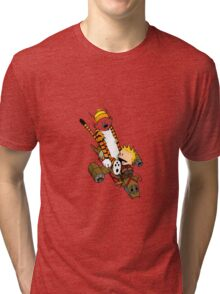 captain calvin and hobbe Tri-blend T-Shirt