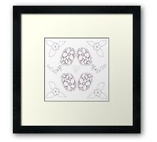 Hearts & Flowers Framed Print