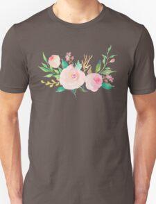 Pastel Watercolor Flower Bouquet Unisex T-Shirt