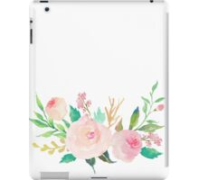 Pastel Watercolor Flower Bouquet iPad Case/Skin