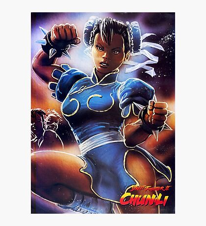 Chun-Li Street Fighter 2 Fan items! Photographic Print