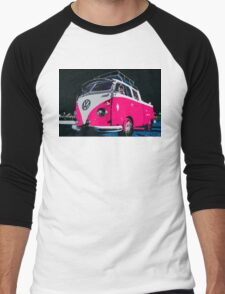 VW camper Pinky  Men's Baseball ¾ T-Shirt