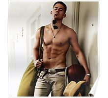 Channing Tatum shirtless Poster