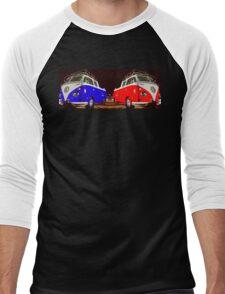 Volkswagen Combi Duo Blue & Red  Men's Baseball ¾ T-Shirt