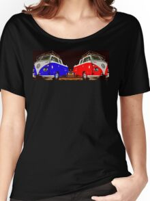 Volkswagen Combi Duo Blue & Red  Women's Relaxed Fit T-Shirt