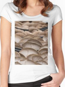 mushrooms Women's Fitted Scoop T-Shirt