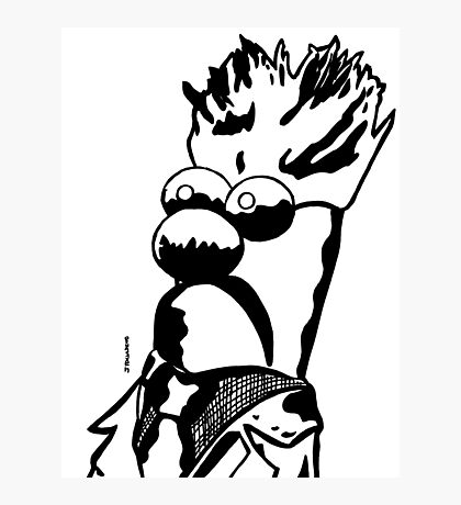 Black and White Beaker by JTownsend Photographic Print