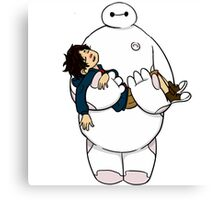baymax hiro sleep Canvas Print