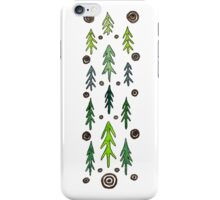 Forest of fir trees iPhone Case/Skin