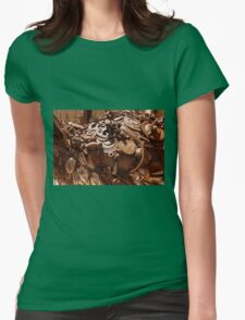 Rusty sculpture Womens Fitted T-Shirt