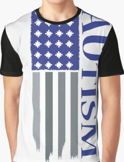 american autism flag blue Graphic T-Shirt