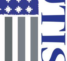 american autism flag blue Sticker