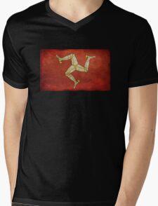 Isle of man flag Mens V-Neck T-Shirt