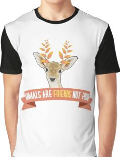 animals are friends not food Graphic T-Shirt