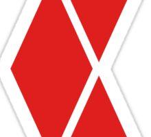 Red Diamonds Sticker