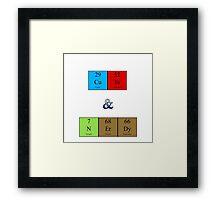 Cute & Nerdy Elements Framed Print